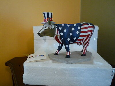 Cow Parade, #1  UNCLE SAM, Chicago 1999, FIRST COW PARADE FIGURINE, Retired