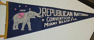 Vintage Pennant, 1968 Republican National Convention Miami Beach, Florida