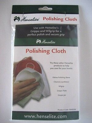 All New: Henselite Lawn Bowls Polishing Cloth. FREE SHIPPING!