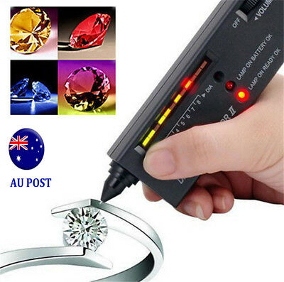 V2 Diamond Tester Selector Gemstone Tool Gems Jewelry Test Tool LED Audio MN