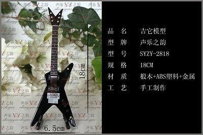 """1/6 Scale Toy black Electric Guitar with Case & Stand for 12"""" Action figure"""