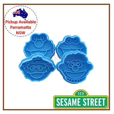 Sesame Street Elmo Cookie Monster Fondant Cutter Cake Cupcake Biscuit Decorating