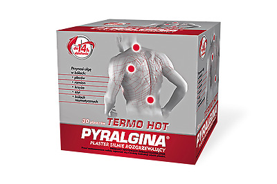 PYRALGINA TERMO HOT 30 PIECES  Pain Relief Plaster Shoulder Back Muscle