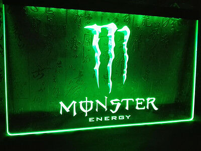 Monster Energy Drink LED Neon Bar Light Sign with On/Off Switch 6 Colors NEW