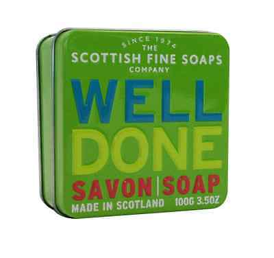 The Scottish Fine Soaps Company Well Done Soap In A Tin 100g