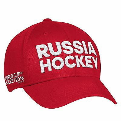 Adult L/XL Team Russia 2016 World Cup of Hockey Graphic Structured Cap H428