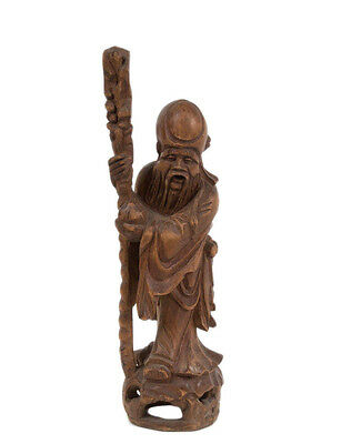 China / Vietnam 20. Jh. Holzfigur -A Chinese / Vietnamese Wood Figure of Shoulao