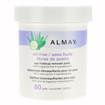 Almay Eye Makeup Remover Pads - Oil Free (80 pads)