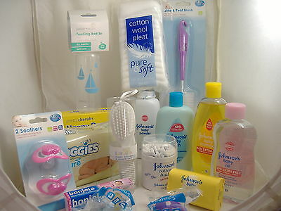 X/L Baby New Born Starter Pack Shampoo,Baby Powder,Cotton Buds, Baby Soap