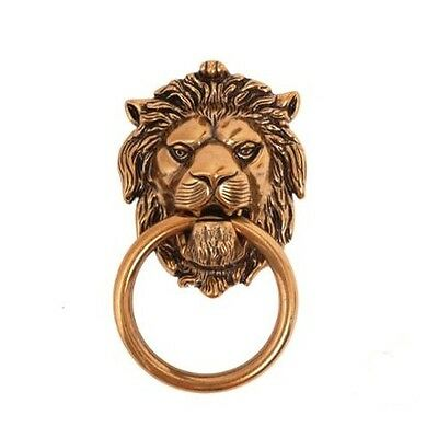 Antique Lion Head Door Knocker Gold Vintage Italian Style Rustic Home Decor Sale