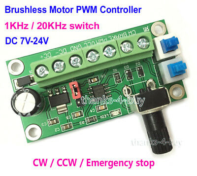 DC 12V-24V PWM DC Motor Speed Control Controller CW CCW Reversible Board 3-Phase