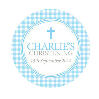 Personalised Baby Boy Girl Christening Holy Communion Stickers Labels Thank You