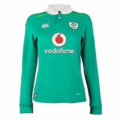 Womens Size 14 Ireland Rugby Home Classic Rugby Shirt - Long Sleeve H62