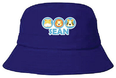 Personalised kids childcare name bucket hats