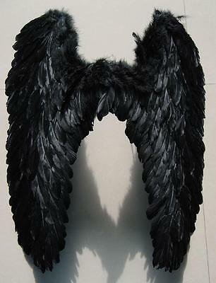 New Black Feather angel wings Props Halloween Party Cosplay