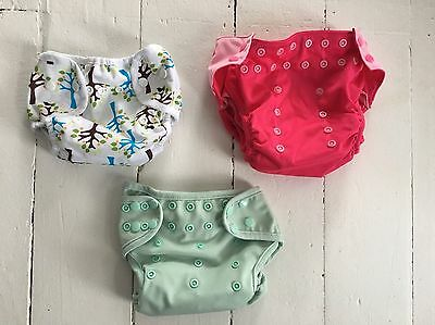 Lot of 3 cloth diaper covers. Never Used.Girl