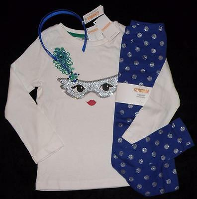 NEW Gymboree WILD FOR HORSES Shirt Leggings Hair Band Clothes size 4 Cat Mask