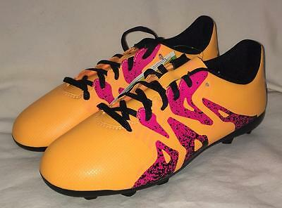 New ADIDAS X 15.4 FXG Soccer Cleats Shoes size 5 Youth Junior Gold Pink  Black 1f0ec45baadfb