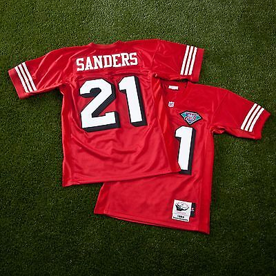 Adult S San Francisco 49ers Deion Sanders 1994 Authentic Jersey H556