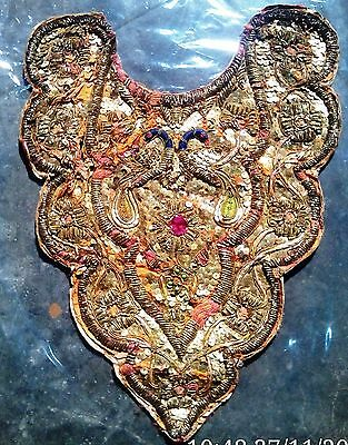 Antique 18 - 19 Century Gold Metallic Hand Made Embroidery -Armour