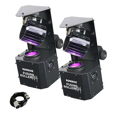 2x Equinox Fusion Roller MAX LED DJ Stage Bar Club Scanner Light Effect & Cable