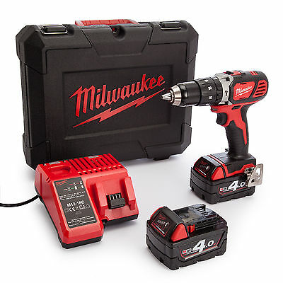 Milwaukee M18BLPD-402C 18V Brushless Percussion Drill With 2 x 4.0Ah Batteries