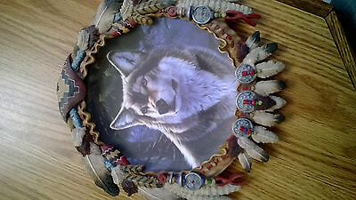 "Hamiliton Collection ""Winter Majesty"" Collectable Wolf Plate 1996"