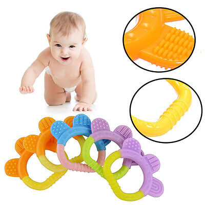 Silicon Fruit Bendable Baby Teether Training Toothbrush Toddler Infant Massager