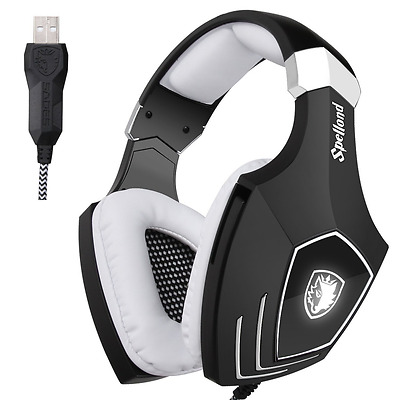 [2016 Newly Updated USB Gaming Headset] SADES OMG PC Computer Over Ear Stereo He