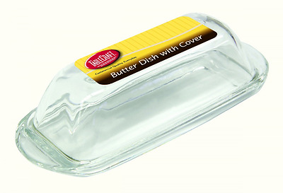TableCraft Single-Stick Glass Butter Dish