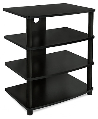 Mount-It! Media Stand Furniture Home Entertainment Center with 4 Wood Shelves fo