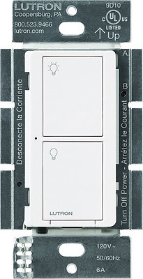 Lutron PD-6ANS-WH Caseta Wireless Switch, Multi-Location, In-Wall, 6 Amp, White
