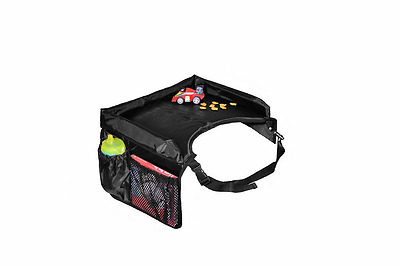 Snack and Play Star Kids Travel Tray, Black