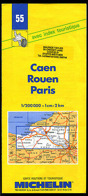 MICHELIN Map France - 55 - CAEN ROUEN PARIS 1997