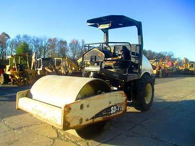 2005 Ingersoll Rand SD77DX Smooth Double Drum Roller Compactor, Only 3230 Hrs