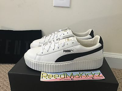 Puma Rihanna Creepers Fenty Cracked Leather Traditional white Womens sizes cfcf806f6