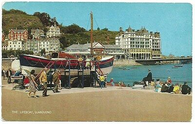 Vintage Postcard. The Lifeboat, Llandudno. Used. Ref:73626