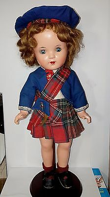 Vintage Shirley Temple Doll Composition Reliable Canada 17in Original Clothes
