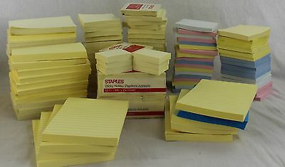 NEW Wholesale Lot Mixed Sticky Note Pads Various Sizes & Colors See Pictures