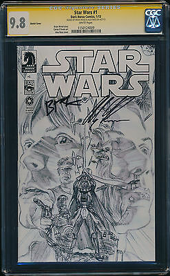 CGC 9.8 SS Star Wars #1 Ross Sketch Variant Signed by Alex Ross & Brian Wood