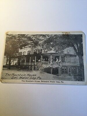 Old Postcard 1900's Mountain House Delaware Water Gap Pennsylvania Historical