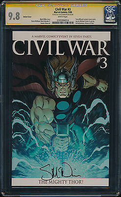 CGC 9.8 SS Civil War #3 McGuinness Variant Signed by McNiven