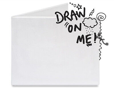 Dynomighty THE BLANK DIY Thin Bifold White Tyvek MIGHTY WALLET New Free Shipping
