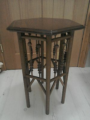 Antique Arts & Crafts small hexagonal table