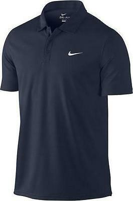 Nike Men's NET Classic Tennis Polo Shirt Obsidian New 453247-451 S and L