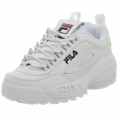 SALE!! FILA DISRUPTOR II 100% authentic Men's White Shoes FW01655-111