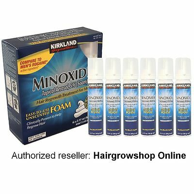 Kirkland Minoxidil 5% Topical Aerosol Foam Hair Regrowth Treatment 6 Month &more