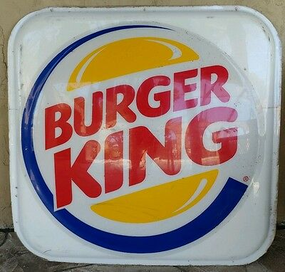 "Burger King Restaurant Sign. 46"" x 46"""
