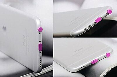 Headset + Charger USB Dock Anti Dust Plug Cap Cover for iPhone 6 6 Plus rose