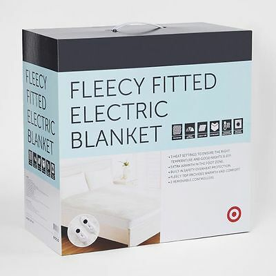 NEW Target Fleecy Fitted Electric Blanket